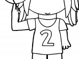 Girl Basketball Player Balancing Ball On Finger Playing Basketball Coloring Page