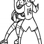 Girl Basketball Player Playing Basketball Coloring Page