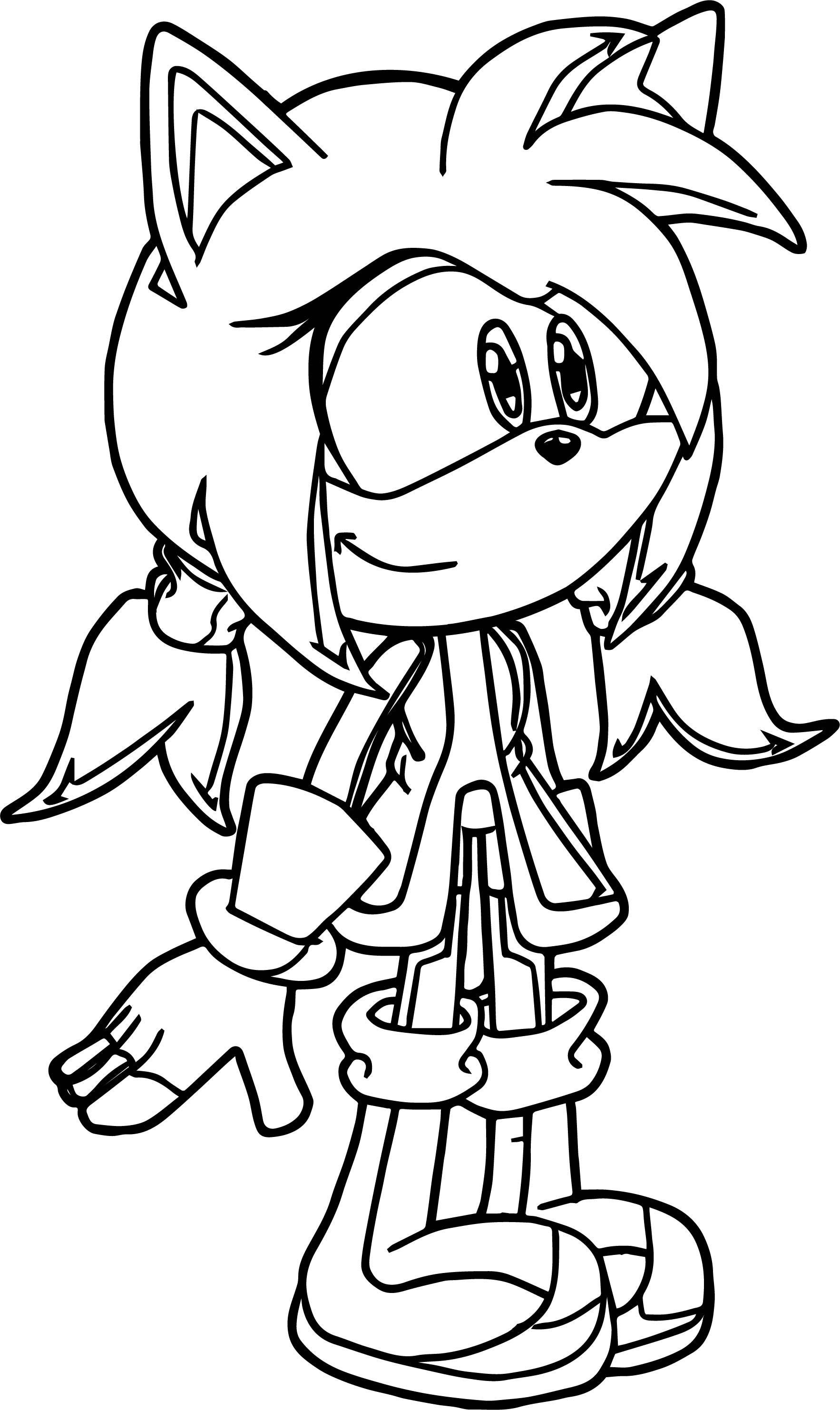 kid amy rose coloring page wecoloringpage