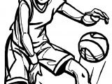 Girl Player Playing Basketball Coloring Page