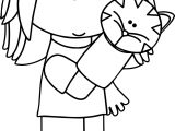 Girl Playing With Puppet Coloring Page