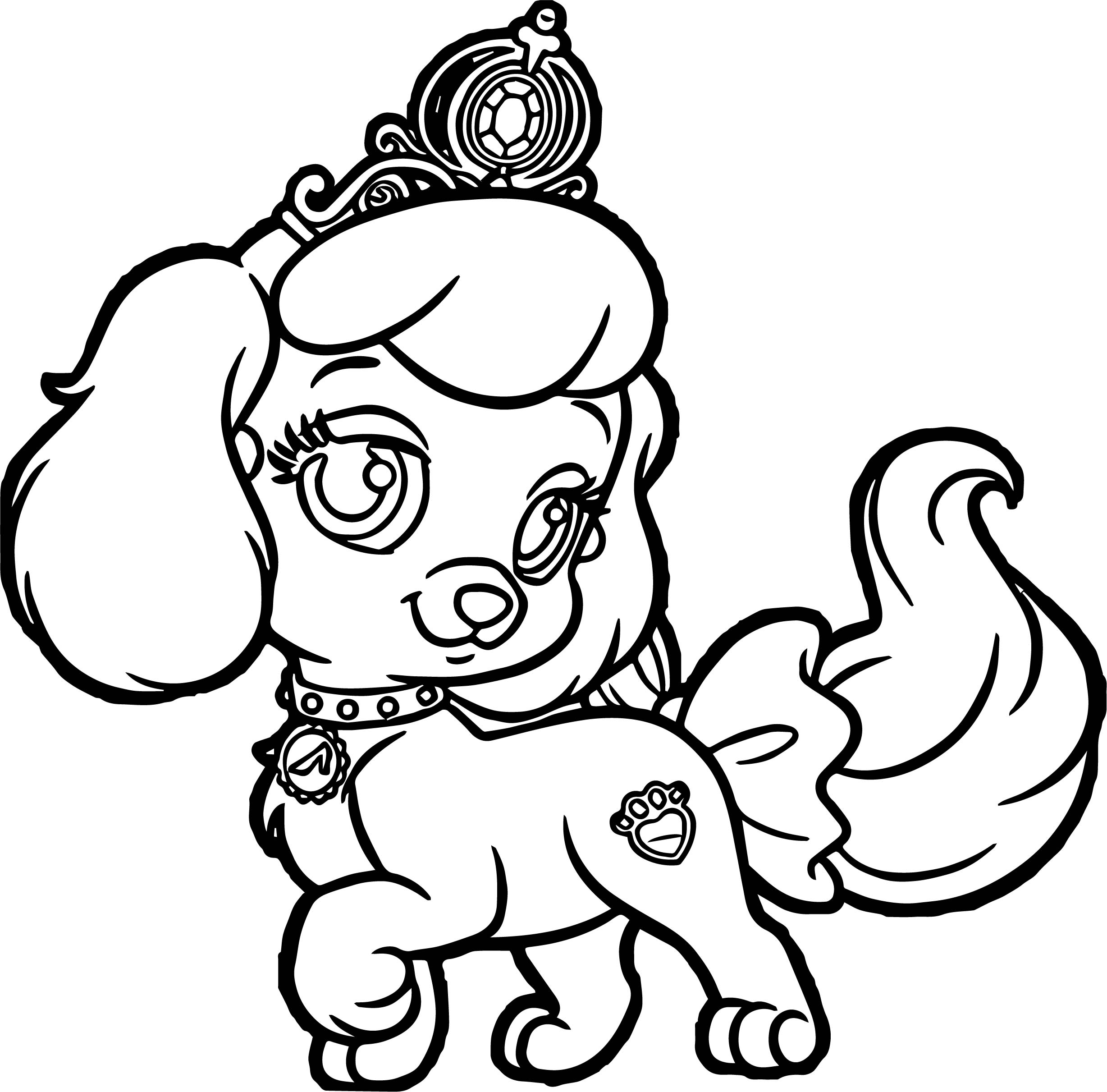 Girl pumpkin pup puppy dog coloring page for Coloring pages of dogs