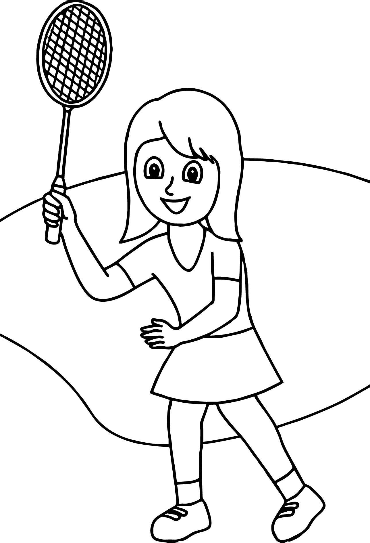with badminton racquet coloring page wecoloringpage