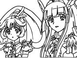 Glitter Force Girls Coloring Page