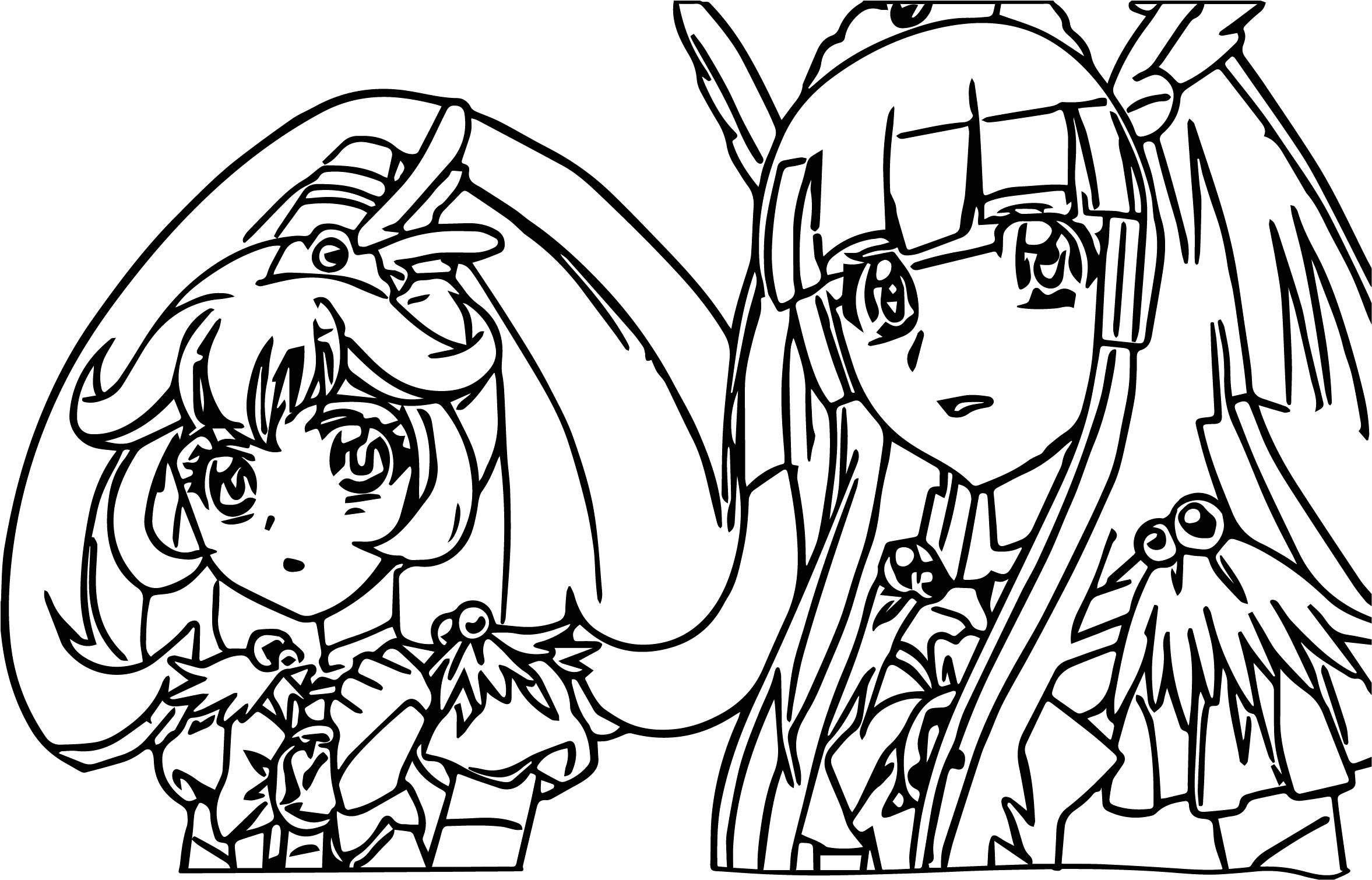 glitter force girls coloring page wecoloringpage