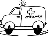 Go Ambulance Coloring Page