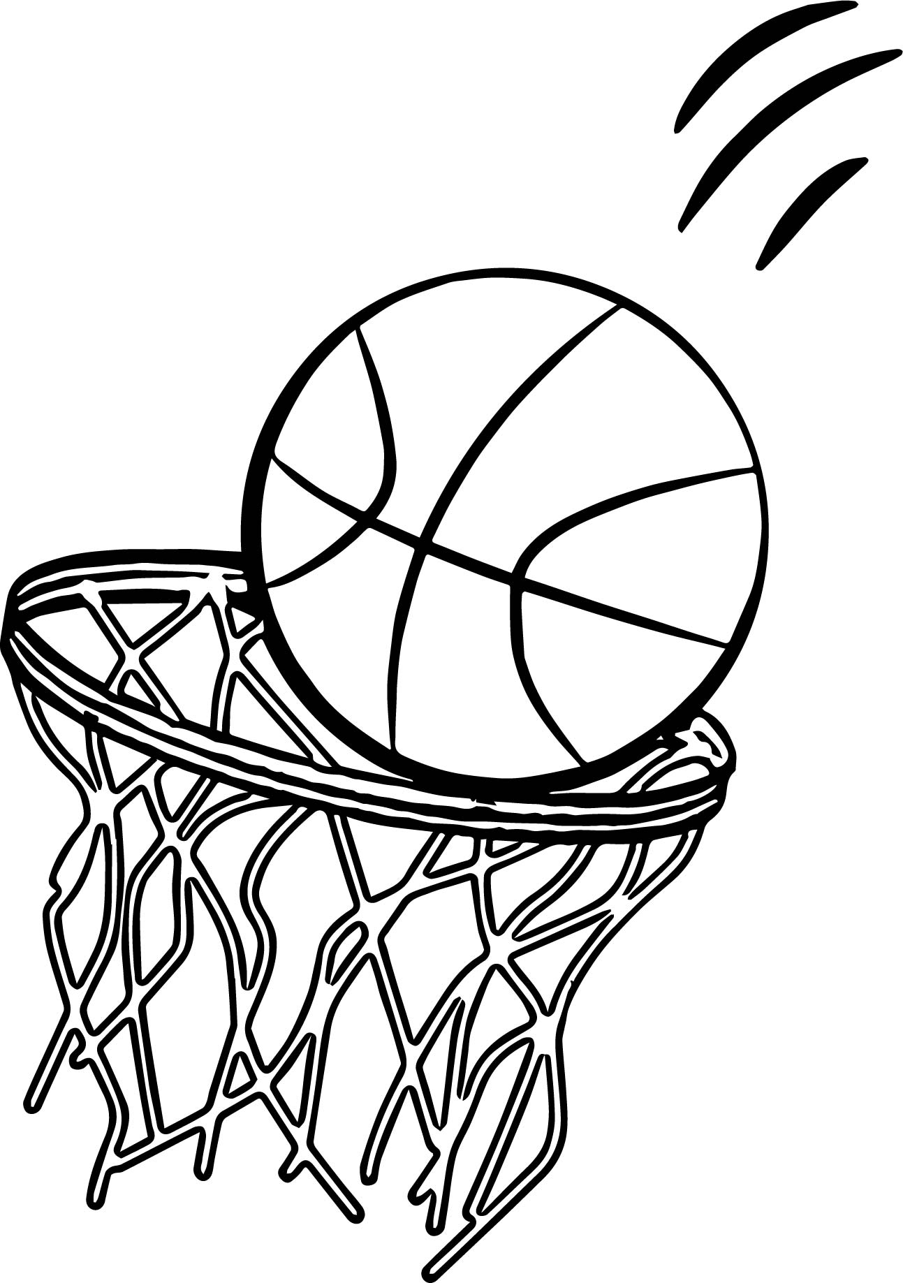 Basketball Jump Shot Coloring Pages