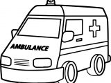 Good Ambulance Coloring Page
