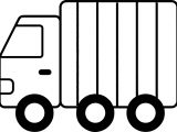 Green Toy Trucks Coloring Page