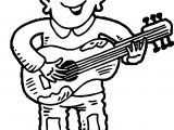 Guitar Player Playing The Guitar Coloring Page