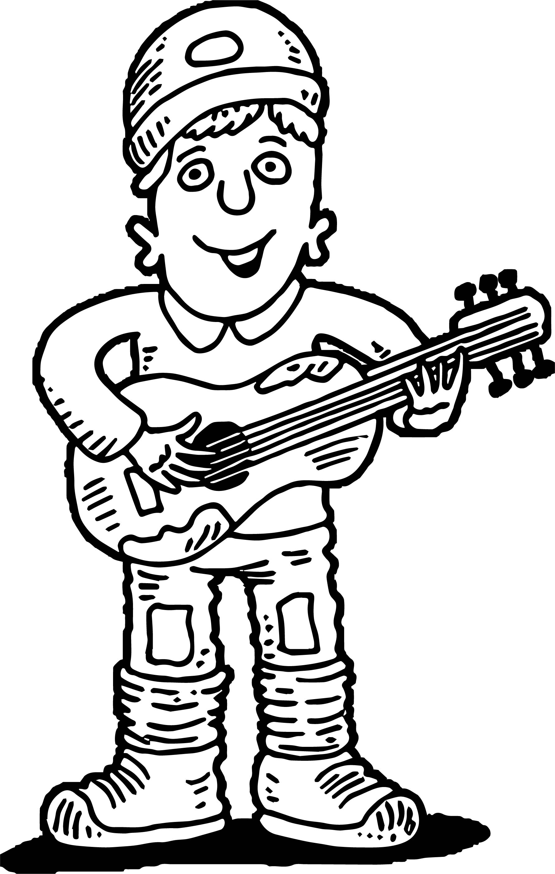 guitar coloring sheet contegri com