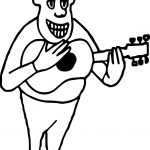 Guitar Player Strumming Guitar Man Coloring Page