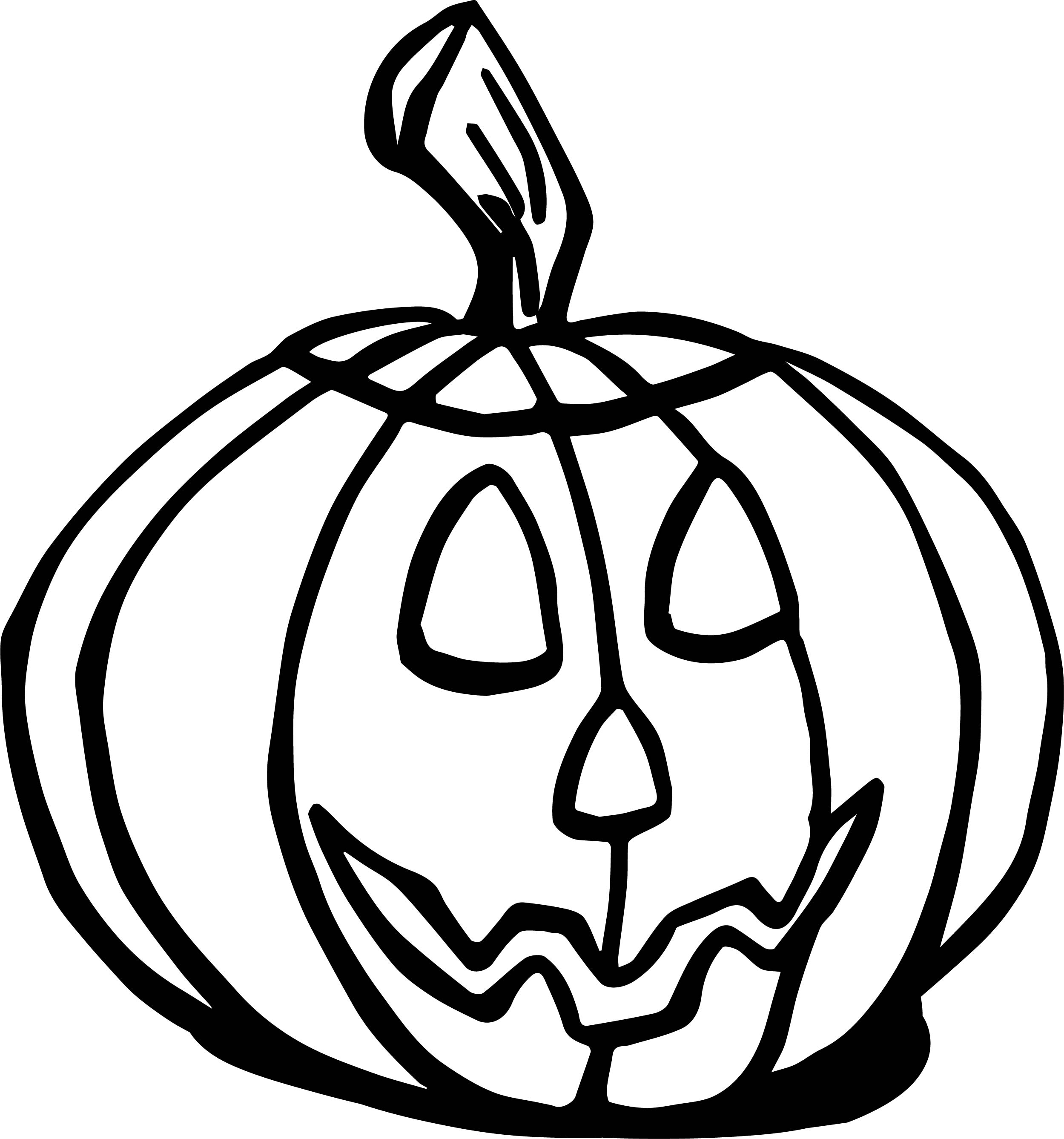 Halloween Fall Pumpkin Coloring Page