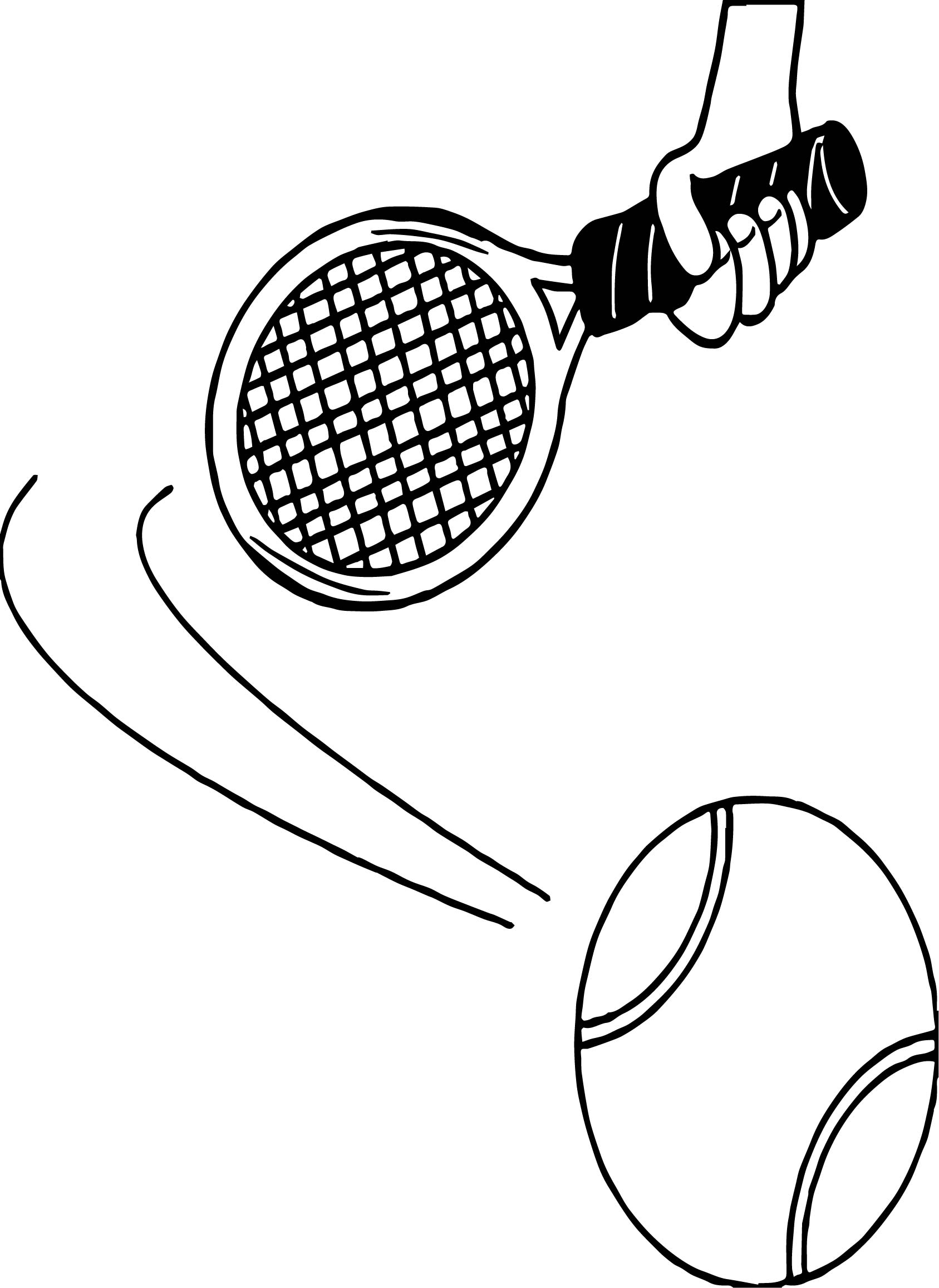 Hand Playing Tennis Coloring Page