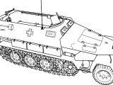 Hanomag Sd Kfz 251 Tank Coloring Page