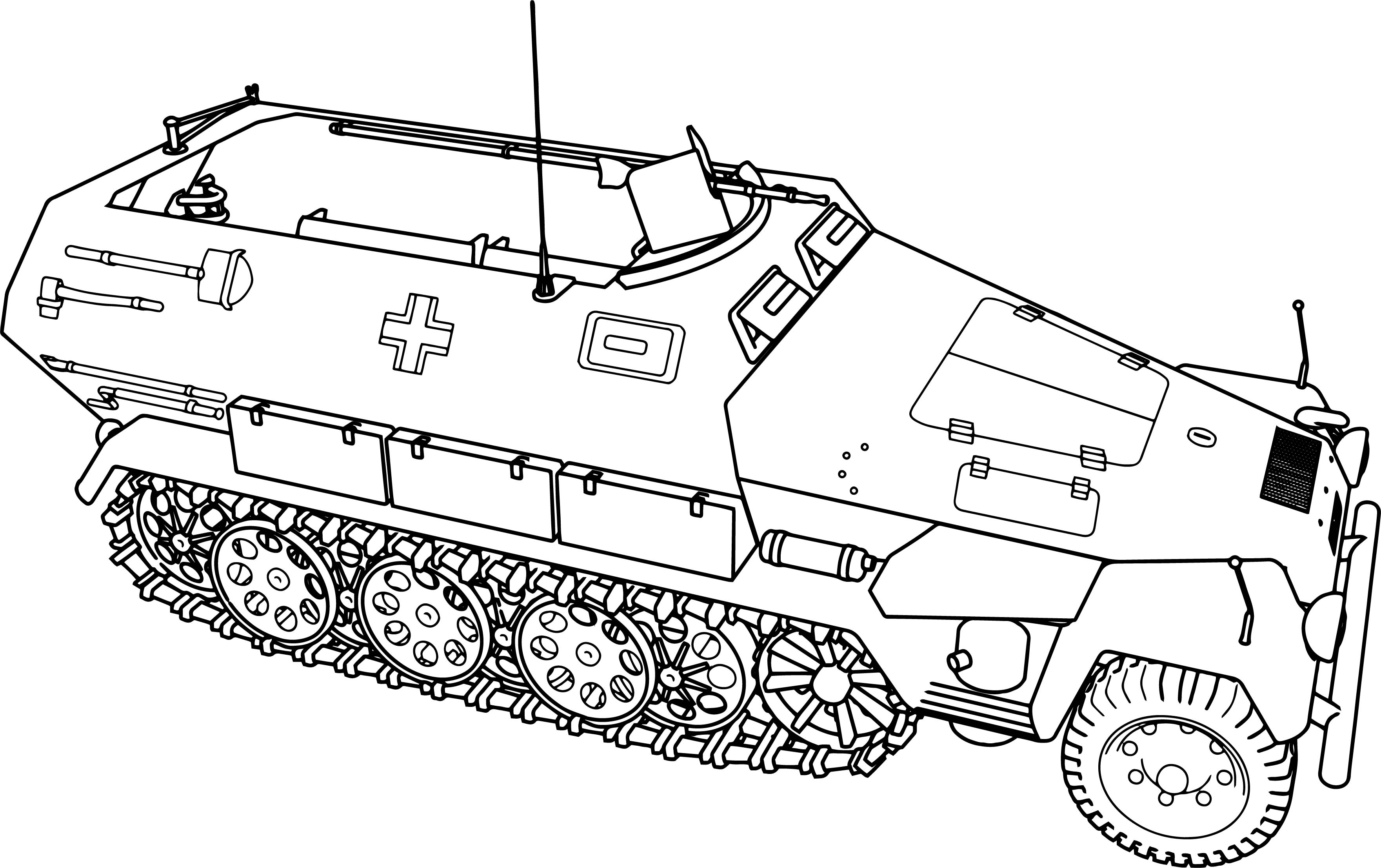 Hanomag sd kfz 251 tank coloring page for Army vehicles coloring pages