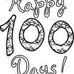 Happy 100 Days Of School Coloring Page