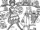 Happy Haunting Halloween Amelia Coloring Page