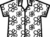 Hawaiian Shirt Coloring Page