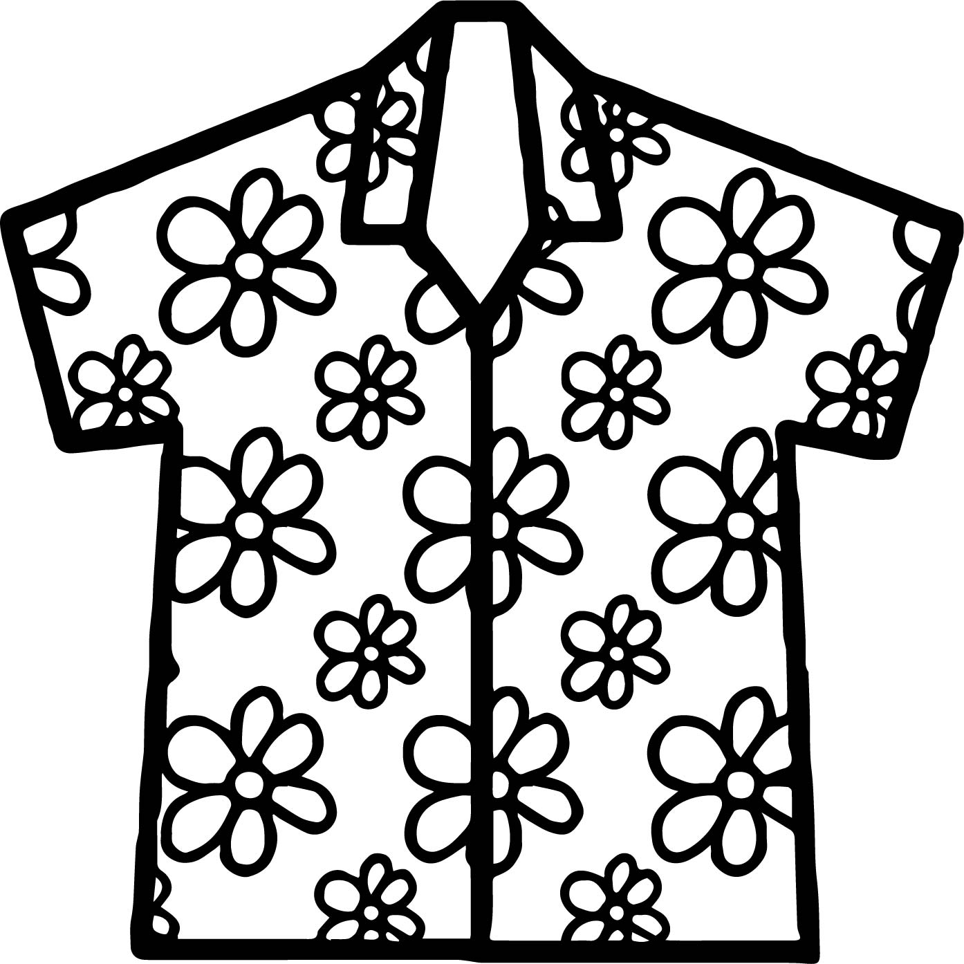 coloring pages of a shirt | Hawaiian Shirt Coloring Page | Wecoloringpage.com