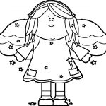 Headed Angel Coloring Page