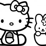 Hello Kitty And Bunny Coloring Page