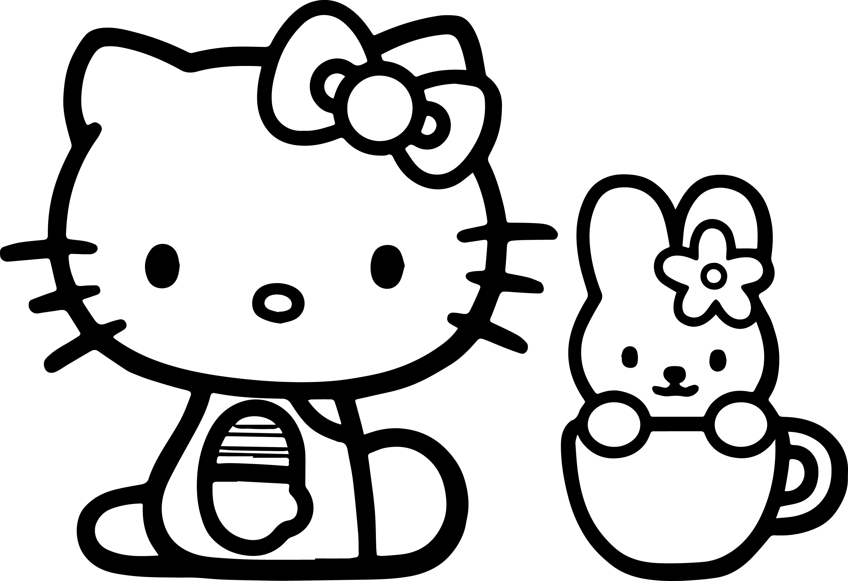 Hello Kitty Flying Airplane Coloring Book