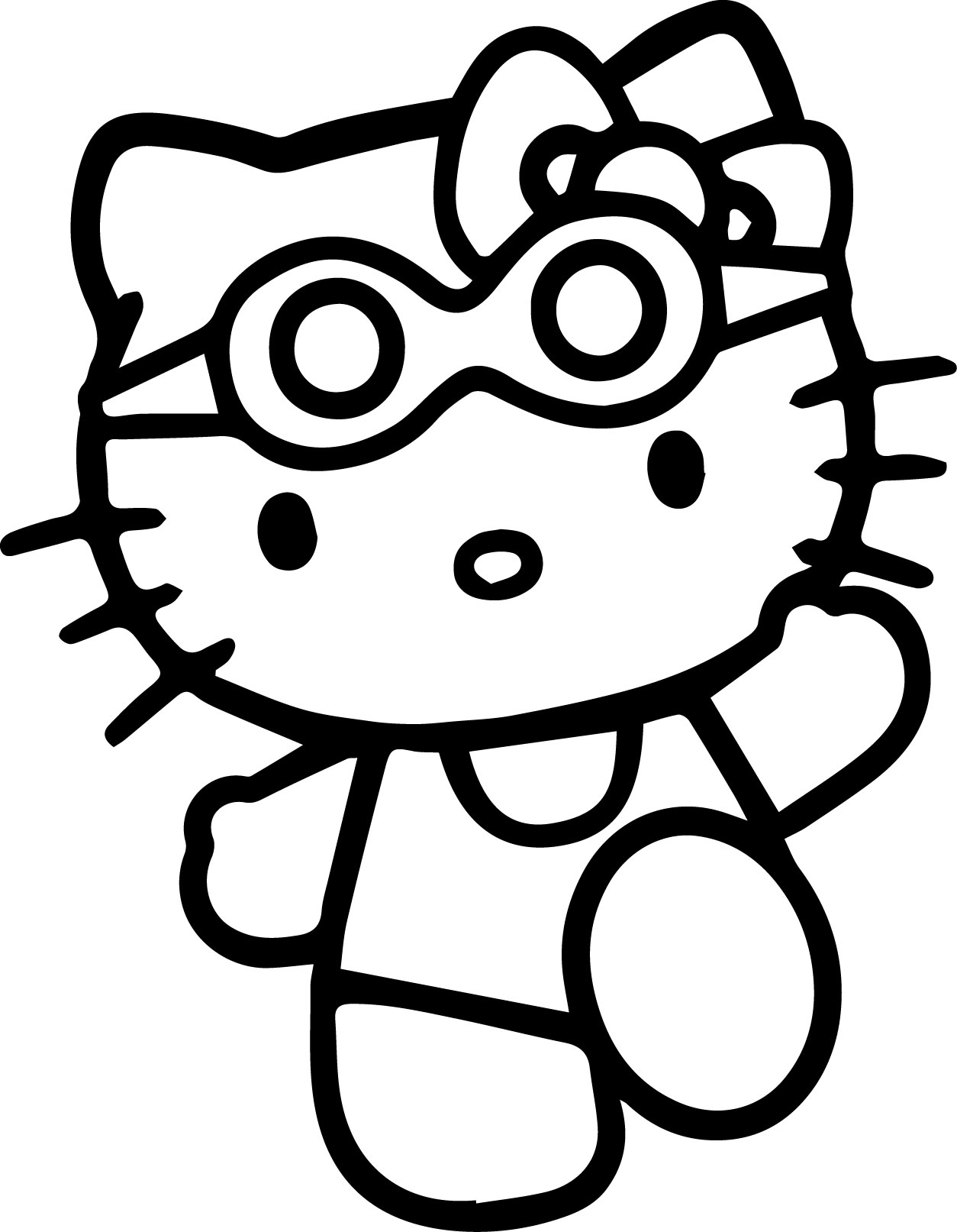 Hello Kitty Beach Coloring Page