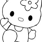 Hello Kitty Cat Coloring Page
