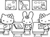 Hello Kitty Class Coloring Page