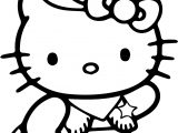 Hello Kitty Cowboy Coloring Page