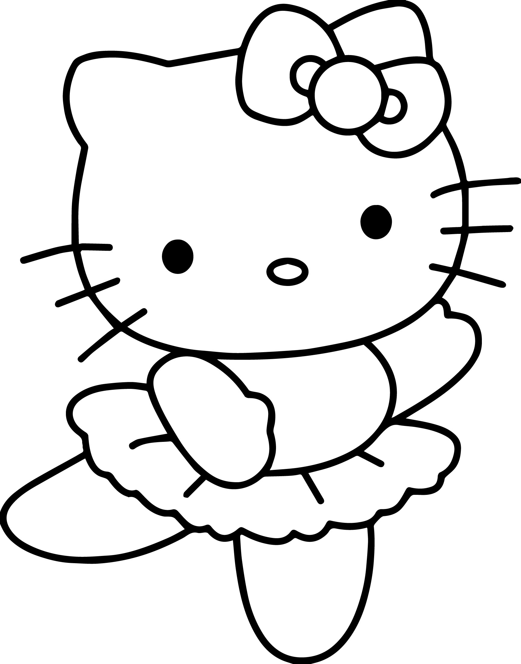 Hello Kitty Do Dancing Coloring Page