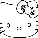Hello Kitty Face Coloring Page