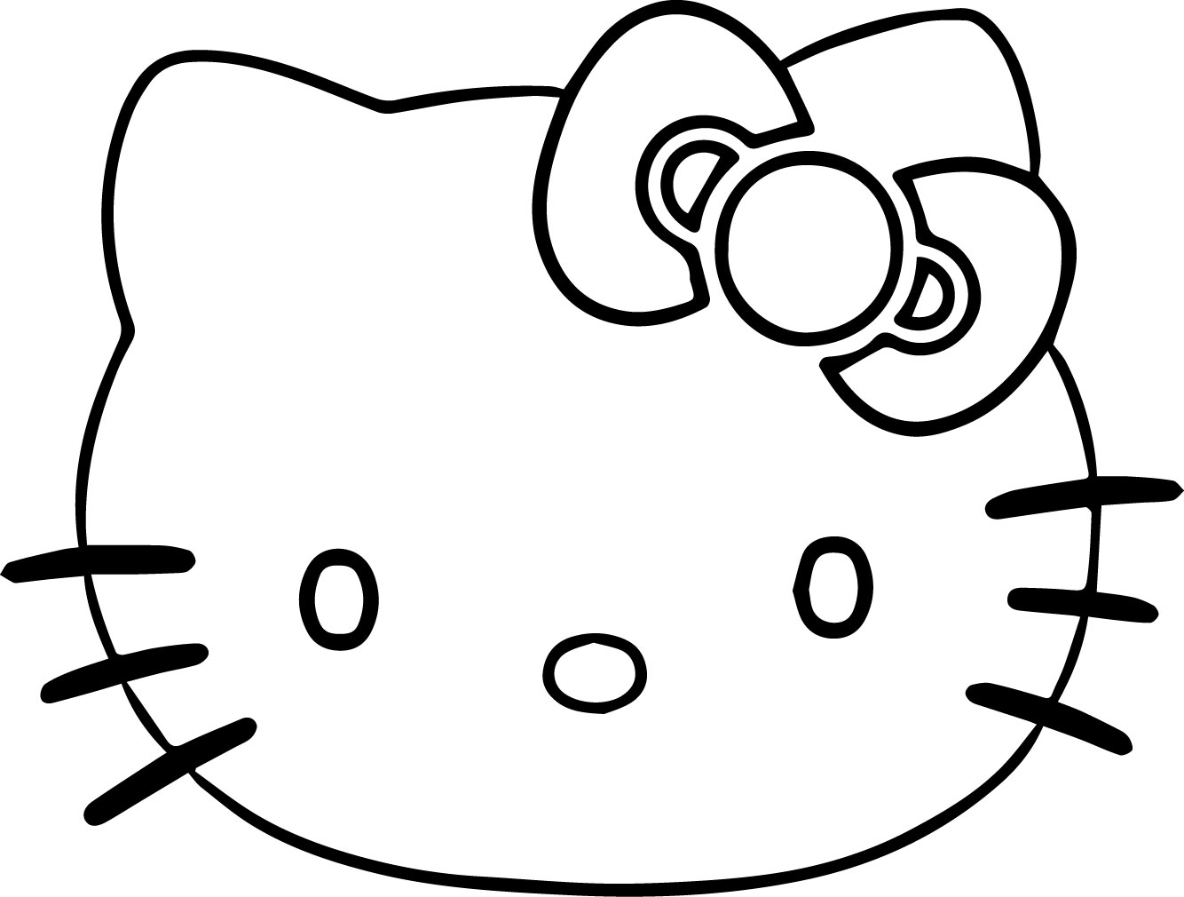 hello kitty face coloring page wecoloringpage