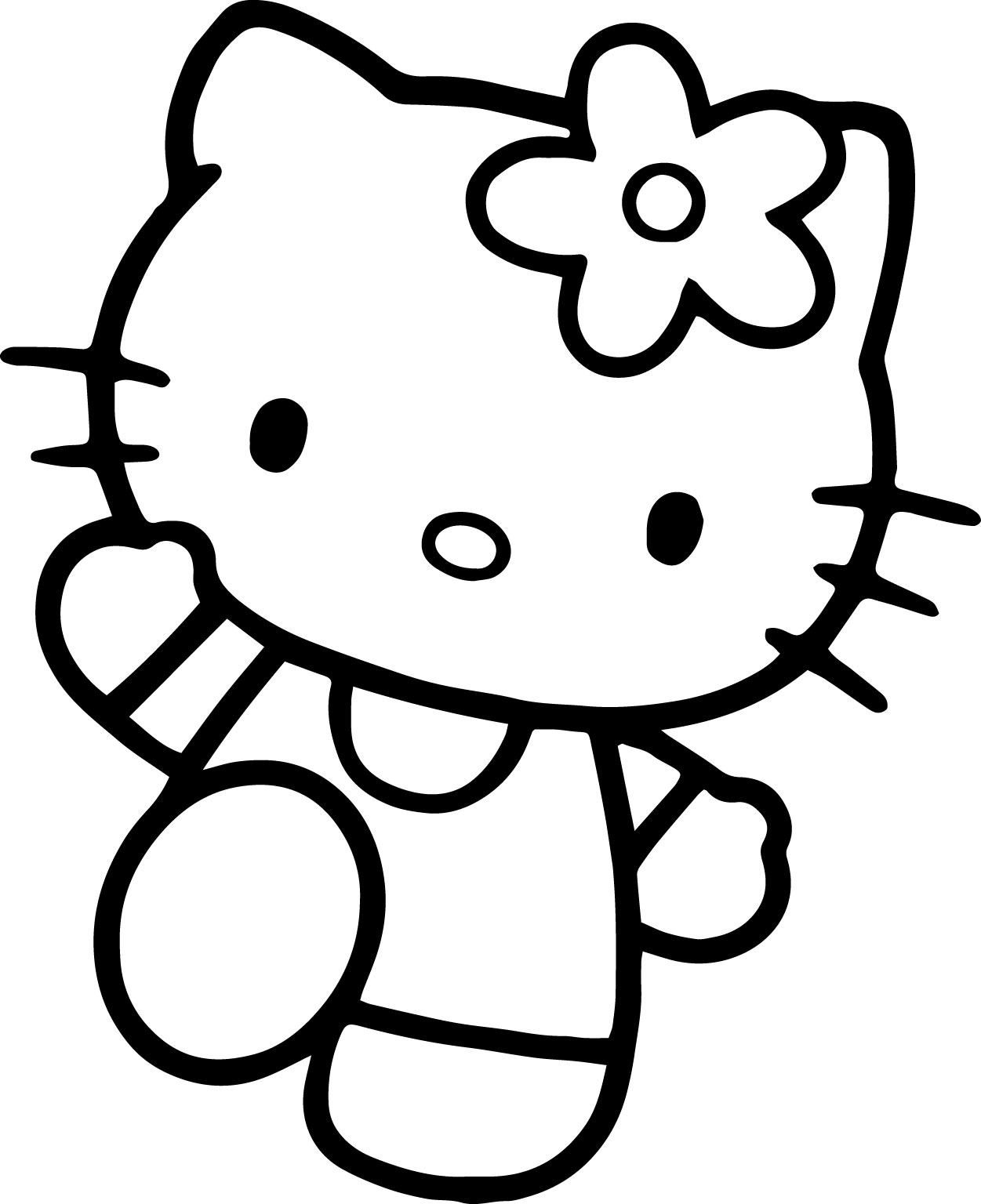 Hello Kitty Hello Coloring Page