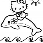 Hello Kitty Play With Flipper Coloring Page