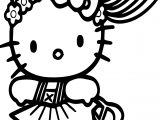Hello Kitty Run Coloring Page