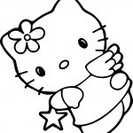 Hello Kitty Star Coloring Page
