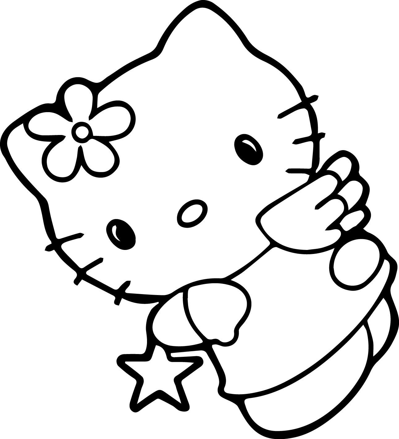 83 Hello Kitty Face Coloring Pages