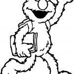 Hello Sesame Street Elmo Coloring Page