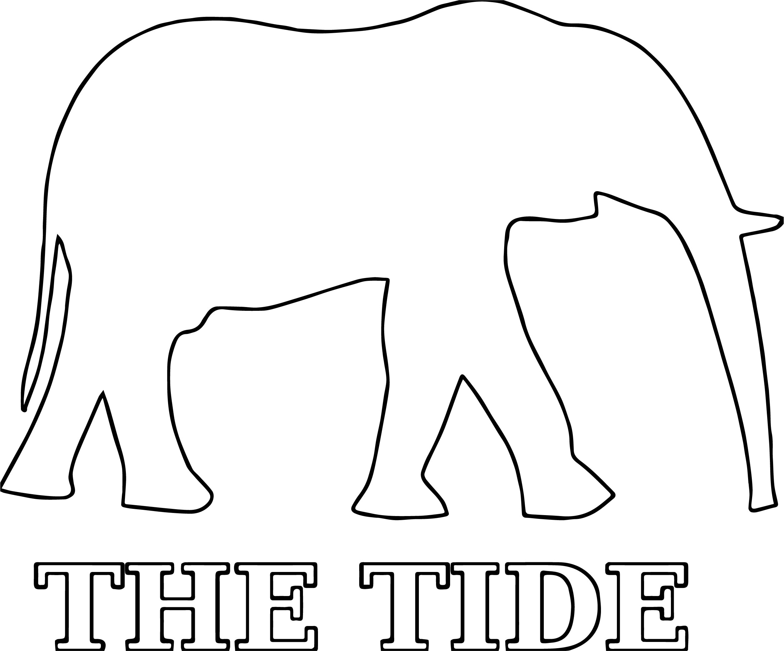 Hi Alabama Football A Elephant Outline Coloring Page ...