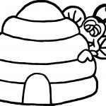 Hide Bee Coloring Page