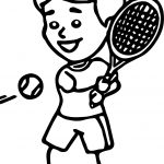 Hitting Tennis Ball With Backhand Coloring Page