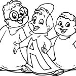 How To Draw The Chipmunks Coloring Page