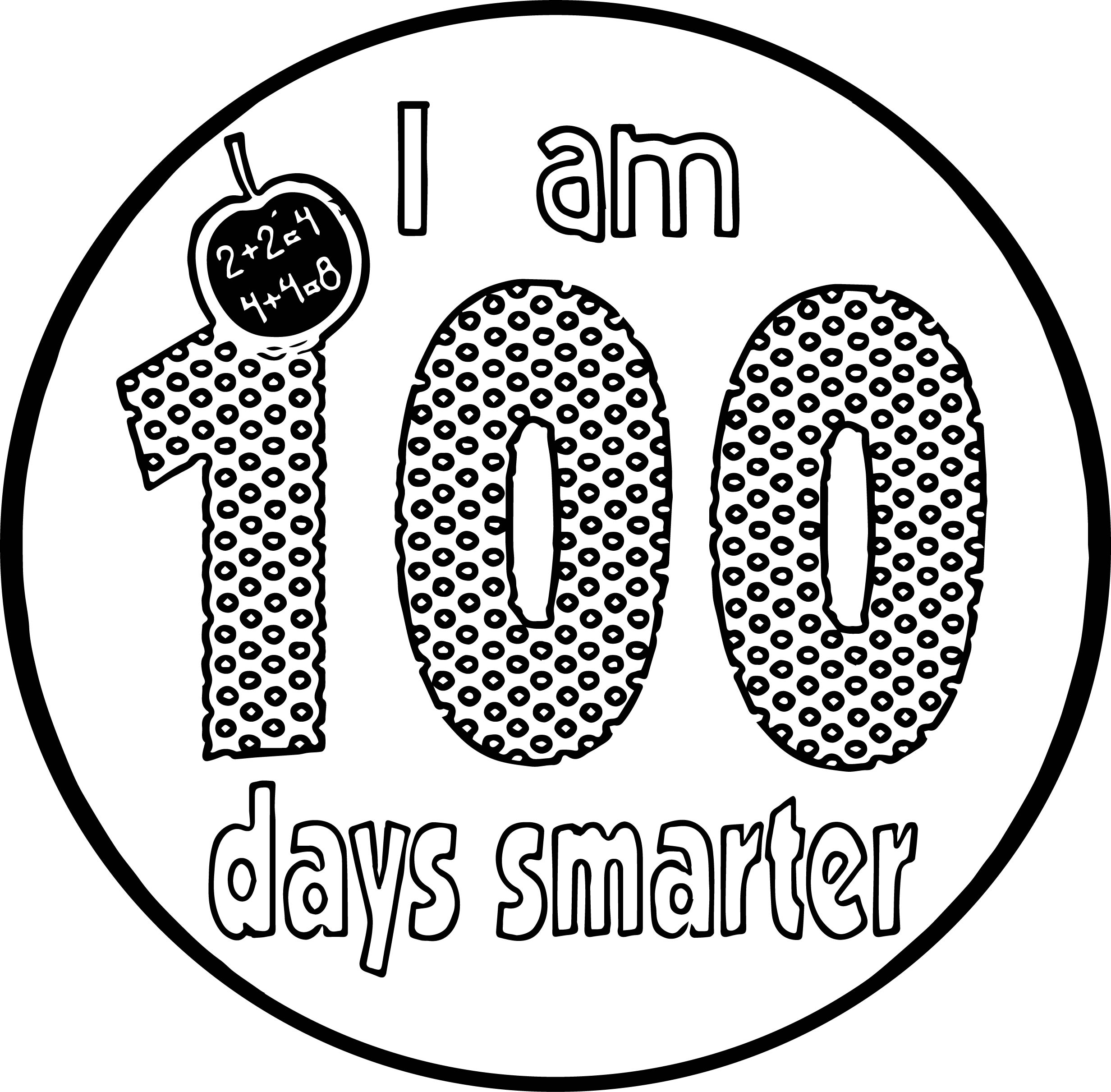 I Am 100 Days Coloring Page
