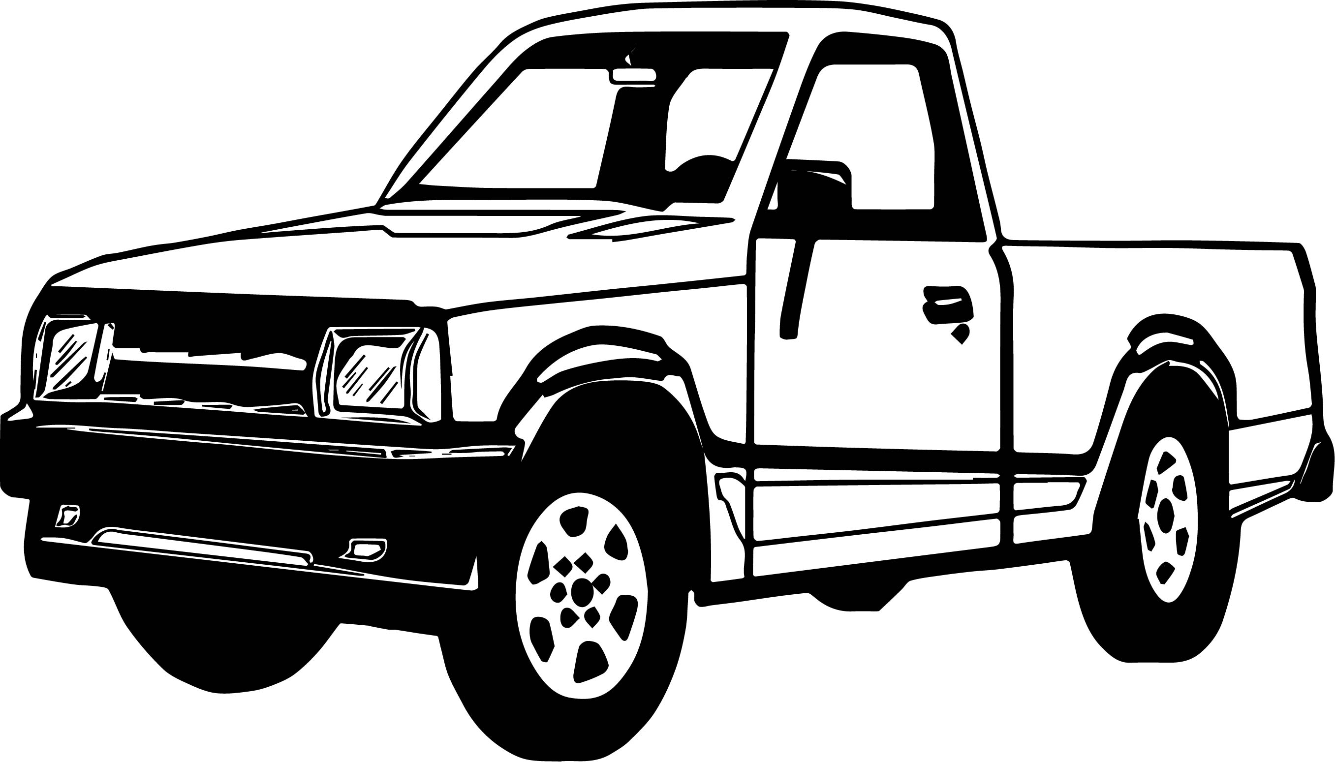 Illustration Of A Pickup Truck Coloring Page