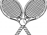 Image Tennis Racquet And Ball Coloring Page