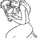 Jane Monkey Pulling Hair Coloring Page