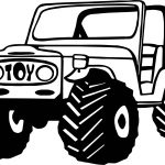 Jeep Toy Car Coloring Page