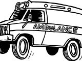 Jump Ambulance Coloring Page